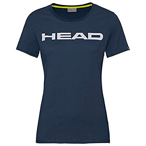 HEAD Damen Club Lucy T-Shirt W, dunkelblau/Weiß, Medium