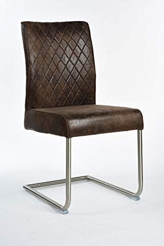 Way Home Store Chaise industrielle salle à manger en cuir synthétique vintage industriel salon Loft modèle Charlie