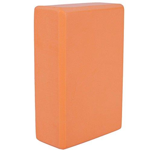 SNOWINSPRING Ladrillos Ejercicio de Yoga eva Bloques de ladrillo de Yoga Deportivo Gimnasio de Entrenamiento de Estiramiento (Naranja)