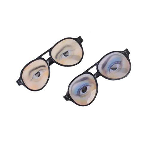 Trick Toy Mujer Hombre Ojos Gafas de Broma Fiesta de la Lente Disfraz Atrezzo y Juguetes para Adultos Regalo de los niños