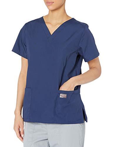 Landau womens Professional Comfortable & Durable 3-pocket V-neck Top Medical Scrubs Shirt, Navy, 4X-Large US