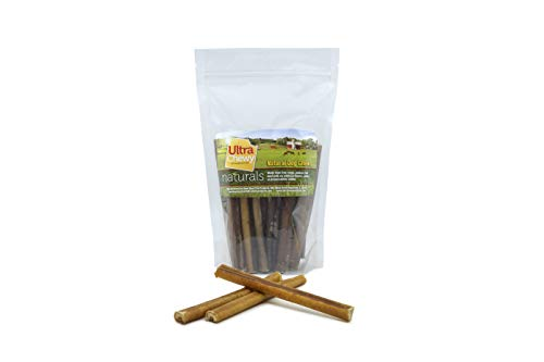 Ultra Chewy 6-Inch Bully Sticks - (25 Unit Per Pack) - Natural Bully Stick Dog Treats, Fresh Beef Flavor, 100% Beef Chews, Grain-Free, Odor Free Bully Sticks Dog Treats