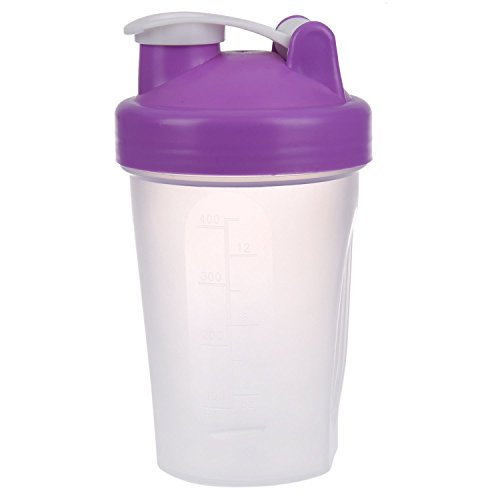 YeBetter Smart Shake Gym Protein Shaker Mixer Cup With Stainless Whisk Ball, Purple
