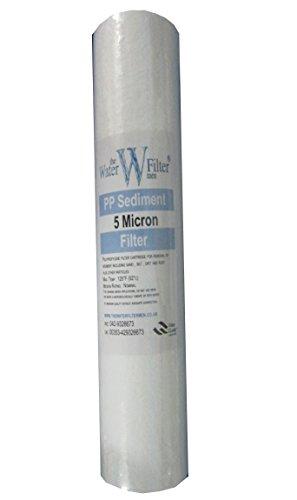 Osmosi inversa Prefilters 20 cm a sedimentazione a 5 Micron, 20 cm, adatta a tutti gli alloggiamenti per filtri da 24,5 cm/pozzo/trattamenti di acqua di pozzo dura