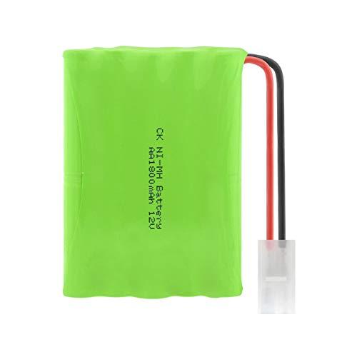 ndegdgswg 12V 1800mAh AA Ni MH paquetes de baterías grupo, recargable con SM/L6.2 conector enchufe para luces de lámpara LED L6.2plug