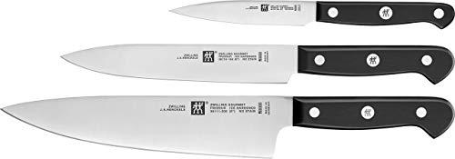 Zwilling 36130-003 Messerset Gourmet, Edelstahl, Silber / Schwarz, 3 Teilig