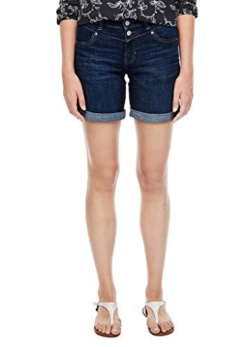 s.Oliver Damen Regular Fit: Jeans-Bermuda Dark Blue 46