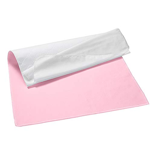 Umi.Essentials Almohadillas Reusables Lavables Incontinencia Absorbente Láminas Rosa - 86 x 132 cm