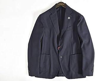 [ラルディーニ] easy wear パッカブル ジャケット メンズ 春夏 無地 防水 防シワ ウール 100% ヘリンボーン ネイビー 紺【並行輸入品】