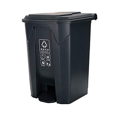Recipiente de Basura Recipiente de clasificación al Aire Libre con Tapa Recipiente reciclable de Cocina de Alta Capacidad 50L, Bote de Basura ecológico Simple Durable/Gris