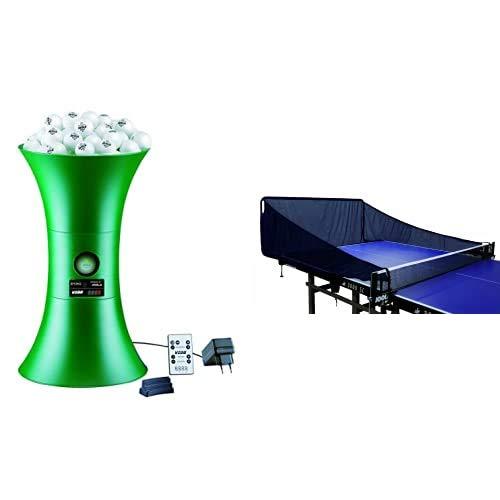 Joola 21127 TT-Roboter Buddy - Robot para Ping Pong, Color Verde + 21128 - Red para Mesa de Ping Pong TT-Roboter Buddy, Color Negro