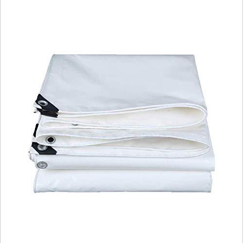 ZEMIN Bâche Protection Couverture Imperméable Antigel Tente La Nature Qualité La Résistance des Trous PVC, Blanc, 550G / M², Plusieurs Tailles (Color : White, Size : 1.8X3.8m)