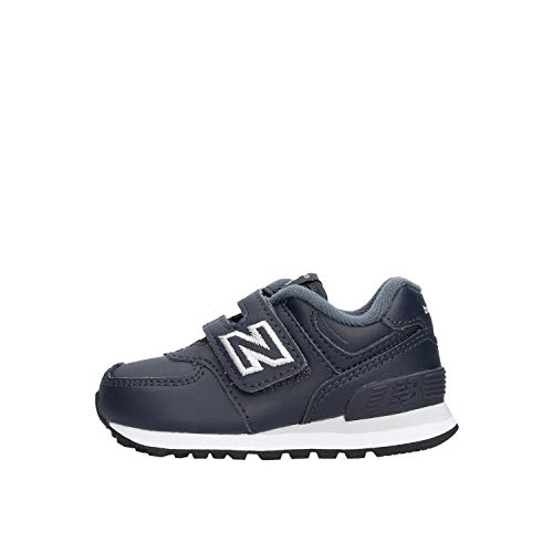 New Balance Kinder 574 Navy IV574ERV Klett Sneaker, Farbe:dunkelblau, Größe:25