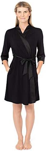 Kindred Bravely Emmaline Maternity Nursing Robe Hospital Bag Delivery Essential Black Small product image