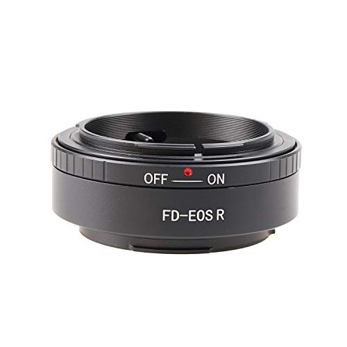 Hersmay FD-EOSR - Adaptador de montura para objetivo Canon FD para cámara Canon EOS R de marco completo sin espejo