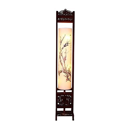 Tyannan Simple lámpara de pie moderna de madera maciza nuevo chino Lámpara de la sala de estar creativa casa de té Estudio de dormitorio de madera Lámpara de pie