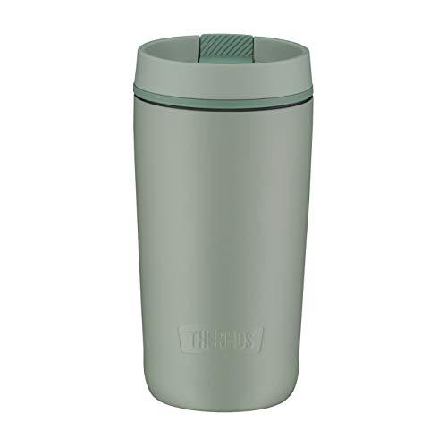 Thermos Guardian Line Isolier-Trinkbecher 350 ml Matcha Green | Doppelwandiger Edelstahl, einfaches Handling, perfekte Größe | Absolut dicht und auslaufsicher [18/8 Edelstahl, Polypropylen, Silikon]