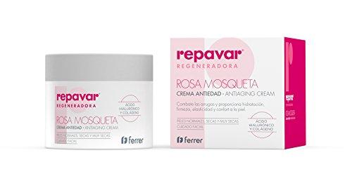Repavar Regeneradora Crema Facial Antiedad con Rosa Mosqueta 50 Ml