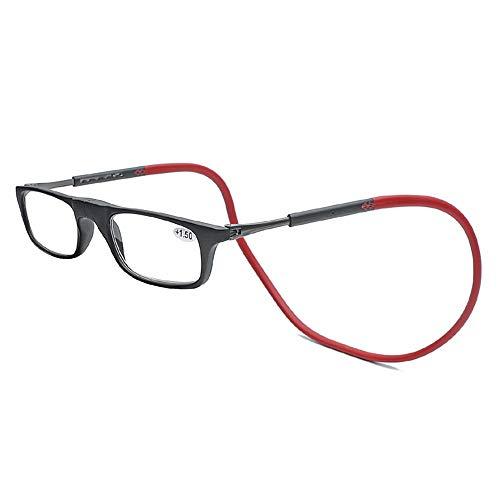Y&J Leesbril, draagbare magnetische lezer, telescopische poten, verstelbaar, super licht, TR90
