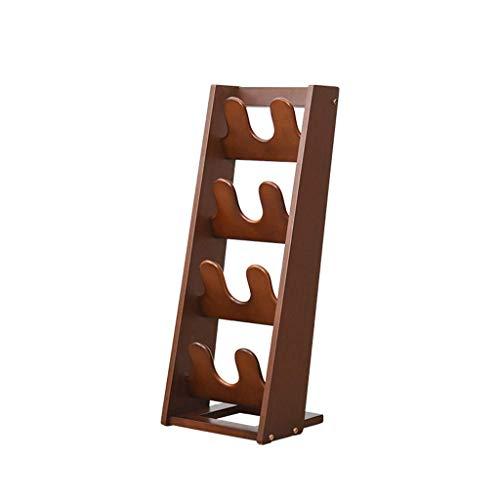 Liyong decoración del hogar multifunción madera maciza zapatos estante puerta de madera creativa moderna simple zapatillas y zapatillas simples hogar múltiples capas madera, un HLSJ (tamaño: A