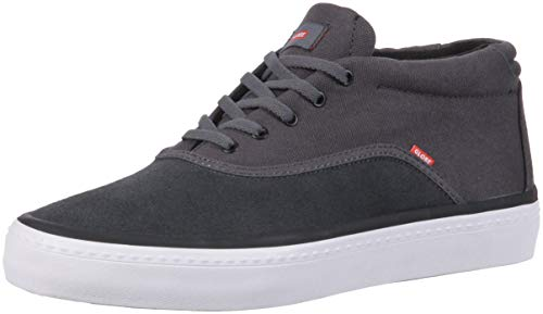 Globe Sprout Mid Chaussures de skate pour homme, gris (Gris foncé/rouge), 43 EU