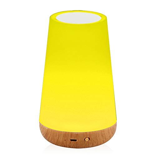 Wiederaufladbares Smart Led Touch Control Nachtlicht, Sensordimmer, Smart Nachttischlampe, Dimmbare Rgb-Farbtischpflegelampe