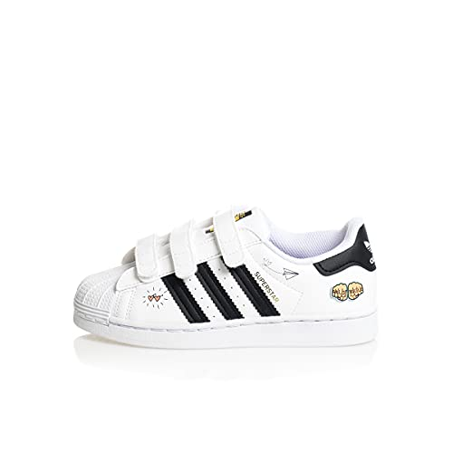 adidas Superstar CF C, Zapatillas Deportivas, FTWR White Core Black Gold Met, 34 EU