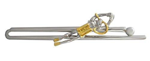 Unbekannt Taucher Krawattenklammer Krawattennadel Bicolor - teilvergoldet glänzend + Geschenkbox