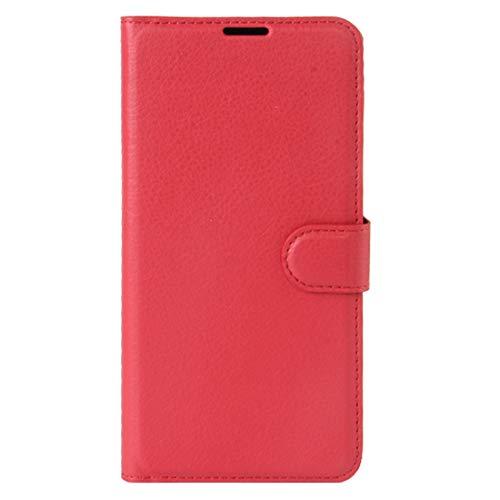 La selección de Cici For el Caso de Sony Xperia XZ Premium Litchi Textura Horizontal de Cuero del tirón con el sostenedor y Ranuras for Tarjetas y Monedero (Negro) (Color : Red)