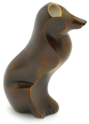 Urns UK Gedenkurne in Hundeform 24,1 cm (antik bronzefarben)