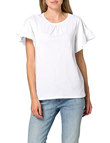 Sisley T-Shirt 3I1XL12QA Camiseta, Blanco 101, L para Mujer