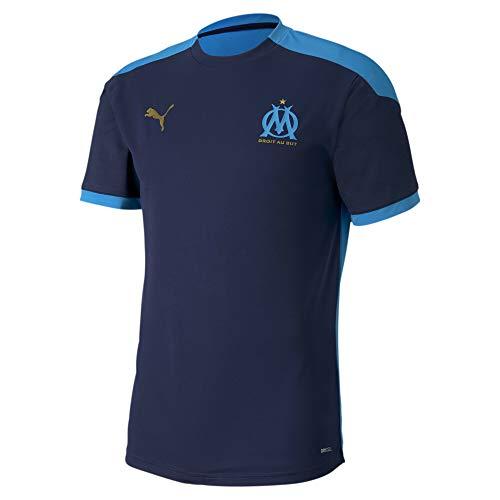PUMA OM Training Jersey T-Shirt Homme Peacoat/Bleu Azur FR : M (Taille Fabricant : M)