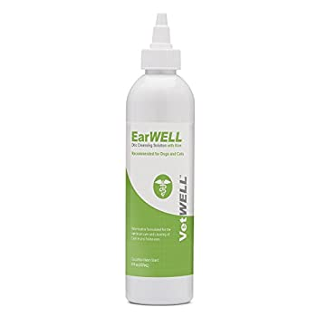 VetWELL Ear Cleaner for Dogs and Cats - Otic Rinse for Infections and Controlling Ear Infections and Odor in Pets - 8 oz  Cucumber Melon