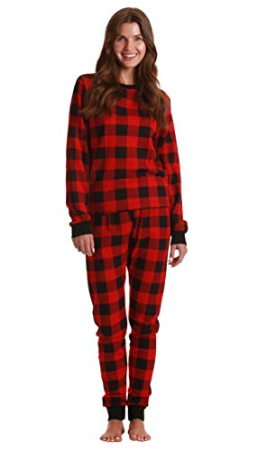 Just Love Printed Thermal Crew Neck Pajamas Set 6874-10195-RED-S