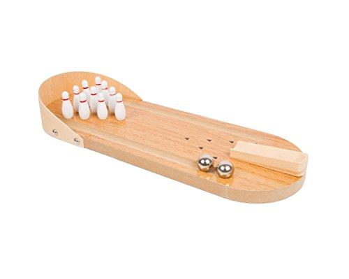 Invero® Mini Wooden Desktop Tabletop Ten Pin Bowling Game Set Includes 2...
