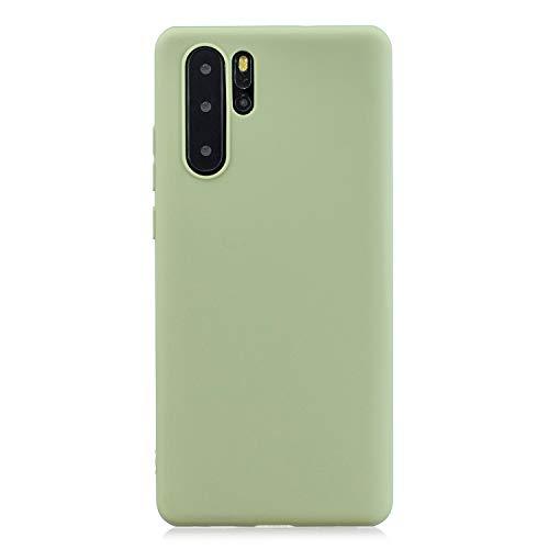 FNBK Kompatibel mit Huawei P30 Pro Hülle Einfarbig Weiches TPU Schutzhülle Teleskophalterung Handycase Handschlaufe Ultradünn Hülle Stoßfest Handyhülle Grün