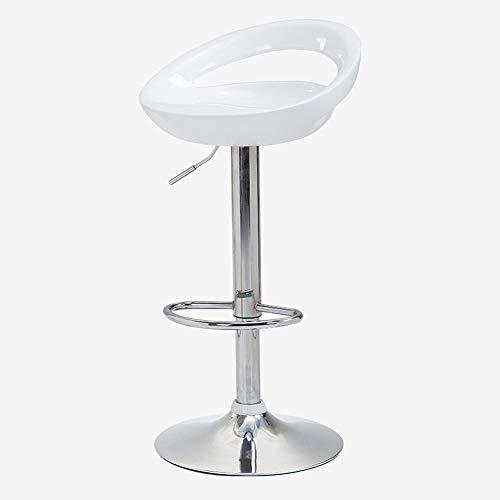 La Silla de Bar se Puede Levantar y Bajar Taburetes Altos giratorios Ocio Bar Sillas Etc 100x35cm (Color : White)