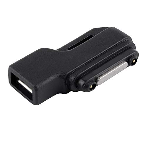 CamKpell Micro USB para Cargador de Carga magnético Adaptador de Muelle para Sony Xperia Z1 / Z2 / Z3 Peso Ligero portátil Conveniente Llevar - Negro