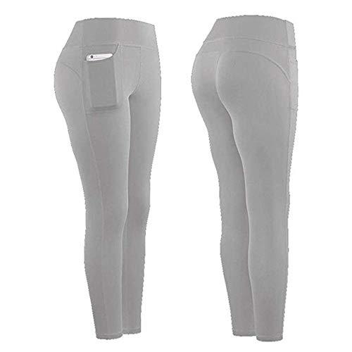 Mdsfe Naadloze legging yogabroek effen gekleurde leggings sport dames fitness hoge taille sport hardlopen stretch leggings sportbroek vrouwen X-Large C-a722