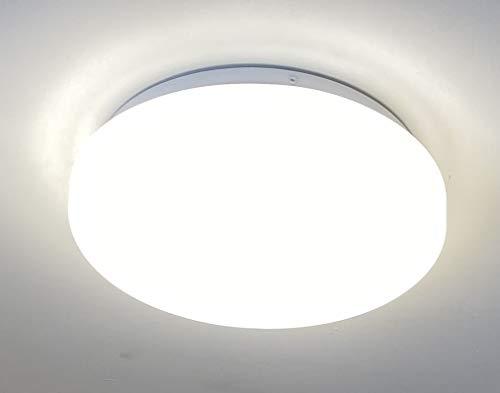 CGC IP44 13W LED ronde plafond wandlamp met magnetron bewegingssensor, 13W, 4000K, 1100lm, AC220-240V IP44, witte behuizing Ideaal veranda toilet Badkamer Garage licht lamp