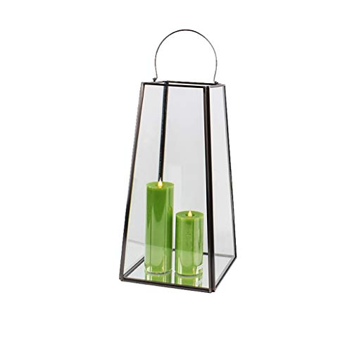 Aoyo RVS Glas Winddichte Lamp Buiten Patio Kaars Houder Lantaarn Bruiloft Decor Props Retro Binnenplaats Kandelaar Decoratie