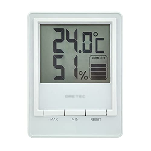 ZzheHou Termometro Igrometro Home Interno Ed Esterno Tavolo da Esterno Display Digitale Temperatura E Misuratore di umidità del Misuratore di Grande Schermo (Colore : White, Size : 10.2x13.6CM)