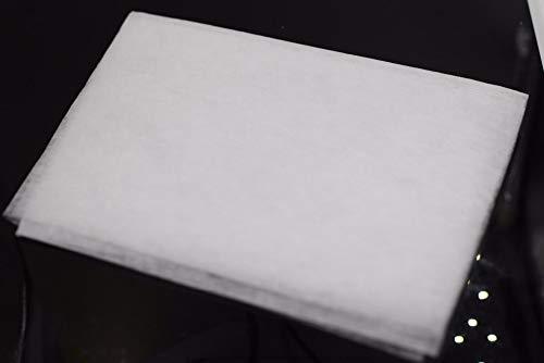 Zonfer Absorbieren Universalgebrauch Küchenrollenpapier Non-Woven-Baumwolle Filter Anti Oil Dunstabzugshaube Filter 45x60cm Weiß