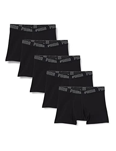PUMA Basic Men's Boxers (5 Pack) Boxer Briefs, Color Negro, L (Pack de 5) para Hombre