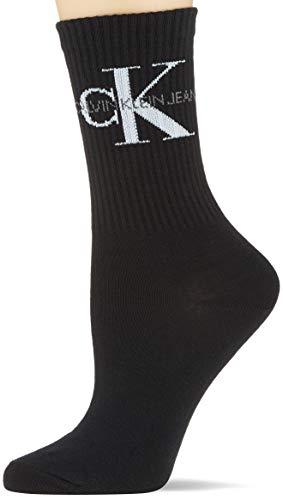 Calvin Klein Socks Womens Short 1p Jeans Logo Bowery Socks, black, ONE SIZE