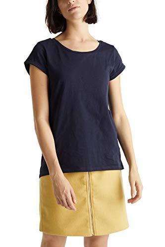 ESPRIT Damen 999EE1K828 T-Shirt, Blau (Navy 400), Medium (Herstellergröße: M)