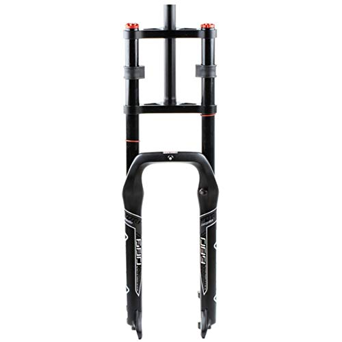 CAREXY Horquilla para Bicicleta, suspensión de 26 Pulgadas Horquillas Delanteras Tubo Recto Amortiguador Ajuste de Rebote Bloqueo Manual Amortiguadores de Aire