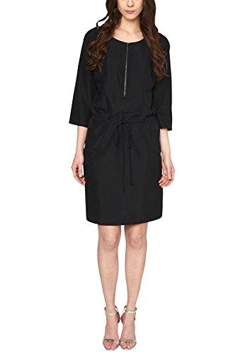 s.Oliver Damen 14.503.82.3476 Kleid, Schwarz (Black 9999), (Herstellergröße: 36)