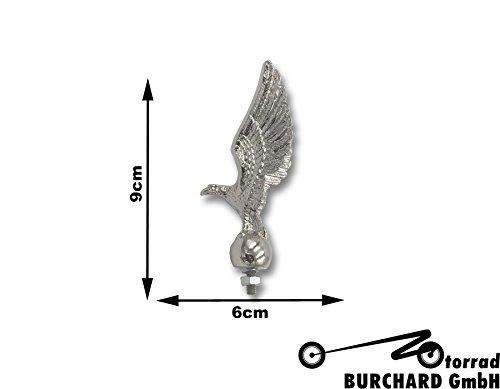 Highway Hawk Motorrad Ornament/Figur Standing Hawk 9 cm hoch in Chrom
