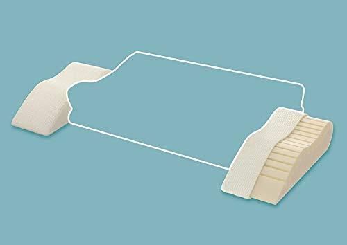 Centa Star Seitenkissen Neckprotect Seitenkissen I Größe 34x15 cm I Farbe Weiss I Reines Polyurethan